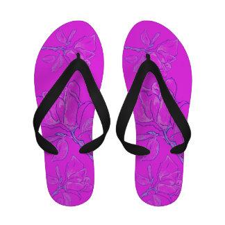 Neon Rose Flip Flops