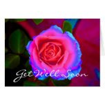 Neon Rose Get Well card