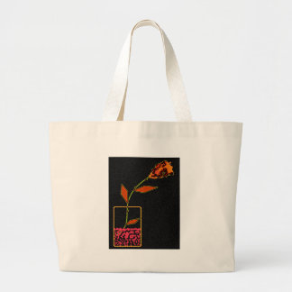 Neon Rose Jumbo Tote Bag
