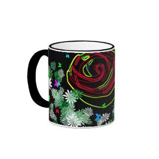 Neon Rose Mug