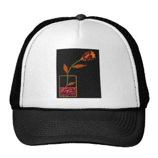 Neon Rose Trucker Hat