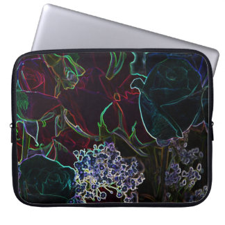 Neon Roses collection laptop sleeve 15in