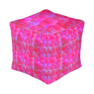 Neon Roses Cube Pouf