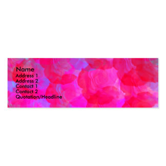 Neon Roses Profile Card Business Card Templates