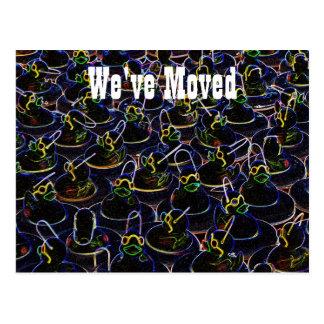 Neon Rubber Ducks Cute New Address Postcard