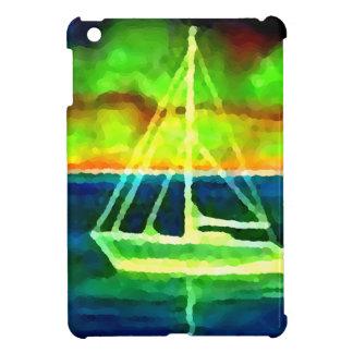Neon Sailboat Dusk Thirty Ocean Sailing Gifts iPad Mini Case