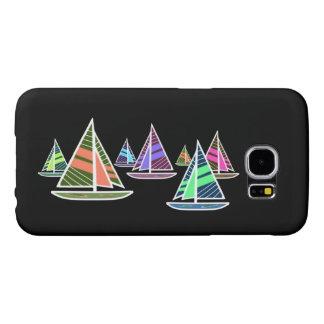 Neon Sailboats Samsung Galaxy S6 Case