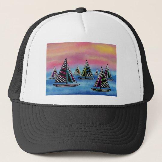 Neon Sails in the Sun Trucker Hat