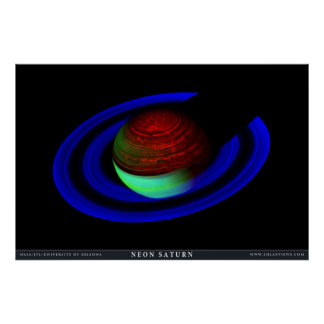 Neon Saturn Posters