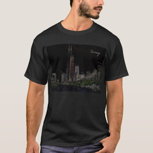 Neon Sears Tower T-Shirt