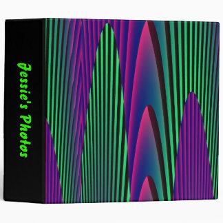 Neon Seas Custom Photo Album 3 Ring Binder