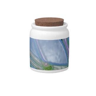 Neon seeds pattern gel effect candy jars