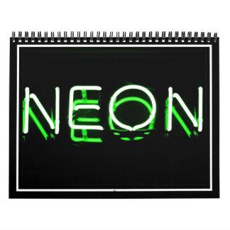 NEÓN - señal de neón verde Calendarios