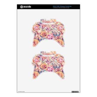 Neon Shabby Chic Xbox 360 Controller Decal