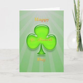 Neon Shamrock St. Patrick's Day Card