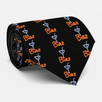 Neon Sign Bar And Glass Neck Tie