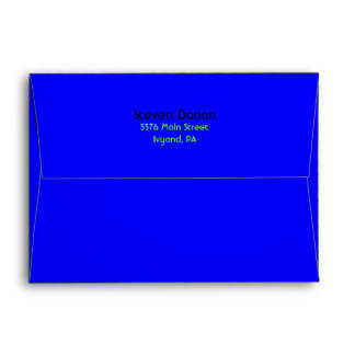 NEON SIGNS Bar Bat Mitzvah Customizable Envelope