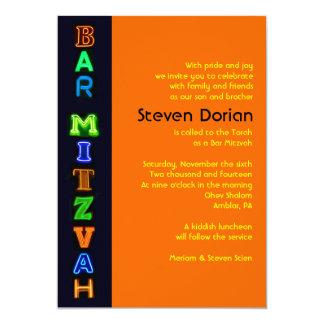 NEON SIGNS Bar Bat Mitzvah Invitation