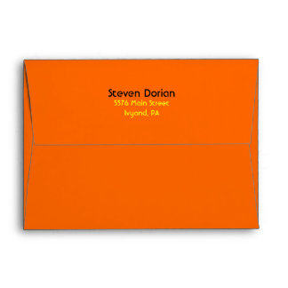 NEON SIGNS Bar Bat Mitzvah Invitation2 Envelope