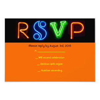 NEON SIGNS Bar Bat Mitzvah RSVP Card Personalized Invitations