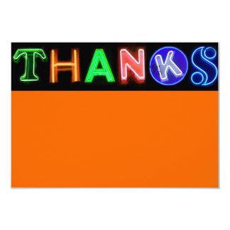 NEON SIGNS Bar Bat Mitzvah Thank You Card