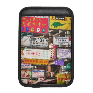Neon signs in the streets of Hong Kong iPad Mini Sleeve