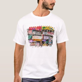 Neon signs in the streets of Hong Kong T-Shirt