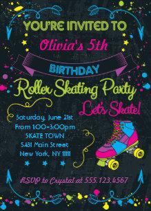 Skate Party Invitations Zazzle