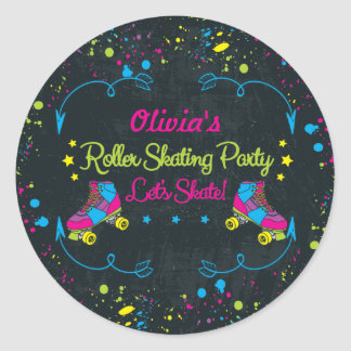 Neon Skate Party Stickers