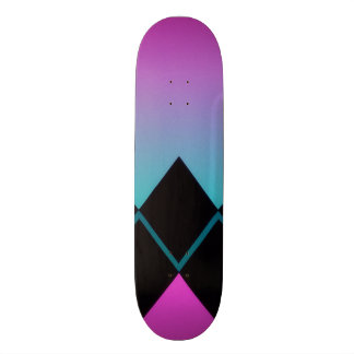 Neon Skateboard with Diamond Design