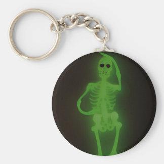 Neon Skelton Keychain