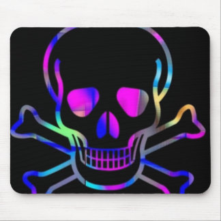 Neon Skull,black Mouse Pad