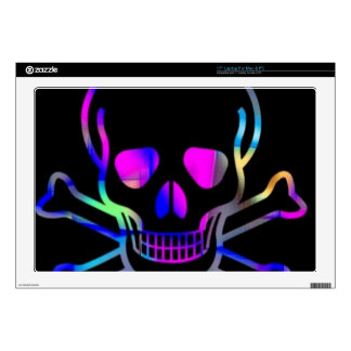 Neon Skull,black Skins For Laptops
