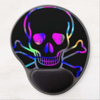 Neon Skull Gel Mouse Pad