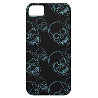 Neon skull on black background iPhone SE/5/5s case
