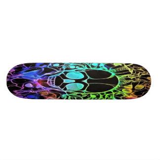 Neon Skull Skateboard
