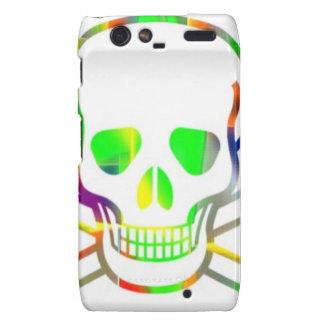 Neon Skull,white Droid RAZR Covers