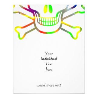 Neon Skull,white Custom Flyer