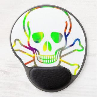 Neon Skull,white Gel Mouse Pad
