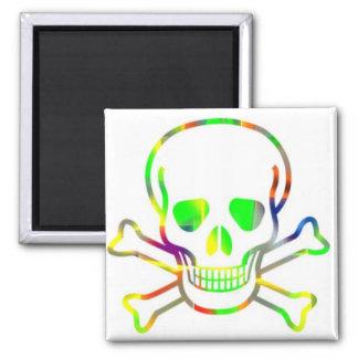 Neon Skull,white Magnet