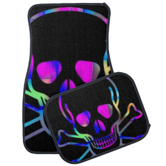 Neon Skull Car Mat