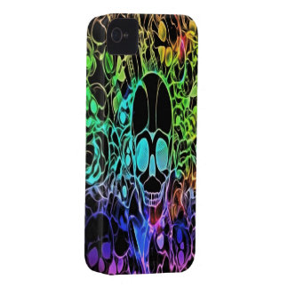 Neon Skulls iPhone 4/4s Mate ID Case
