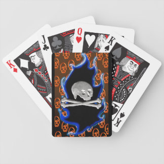 neon skully bicycle playing cards