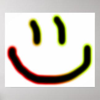 Neon Smile Poster