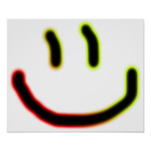 Neon Smile Poster