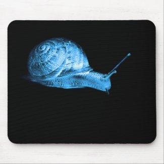 Neon snail mousepad