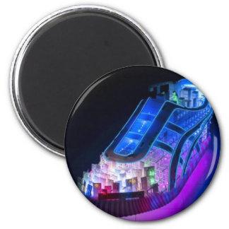 Neon Sneaker 2 Inch Round Magnet