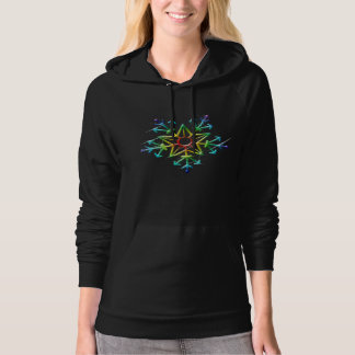 Neon Snowflake Hooded Pullover
