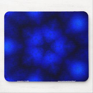 Neon Snowflake Mouse Pad