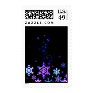 Neon snowflake stamps